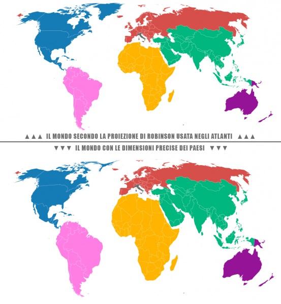 Cartina Giografica Africa.Le Vere Dimensioni Dell Africa Noixcontesto