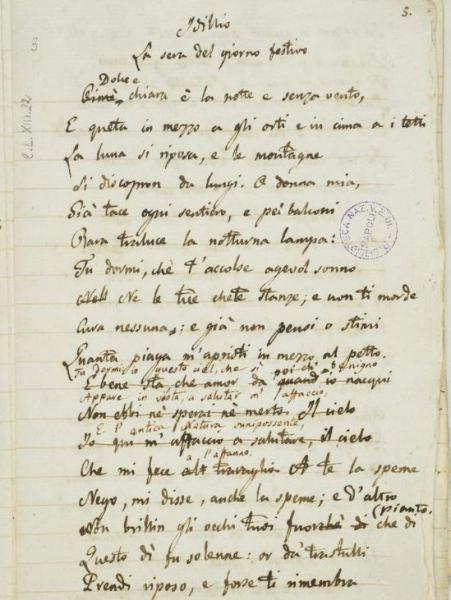 La_sera_del_dì_di_festa,_manoscritto_leopardiano